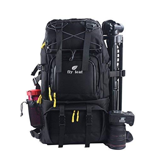 DSLR Kamerarucksäcke, Kameratasche-Große Kapazität Wasserdichte Rucksack Nylon (Schwarz)