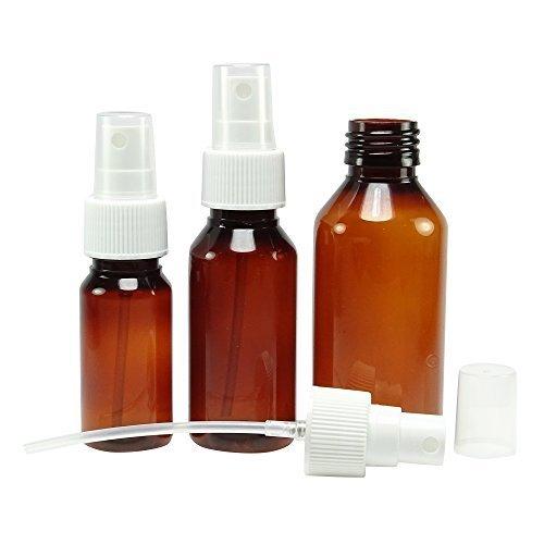 Ambre 6 Pcs plastique atomiseur de parfum spray bouteilles vides Boston round Bouteilles gros parfum rechargeable Huiles Essentielles Flacon 100 ml atomiseur