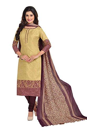 NAI DISHA SALWAR KAMEEZ DRESS MATERIAL-Gold-BAALAR1609-VM-Cotton