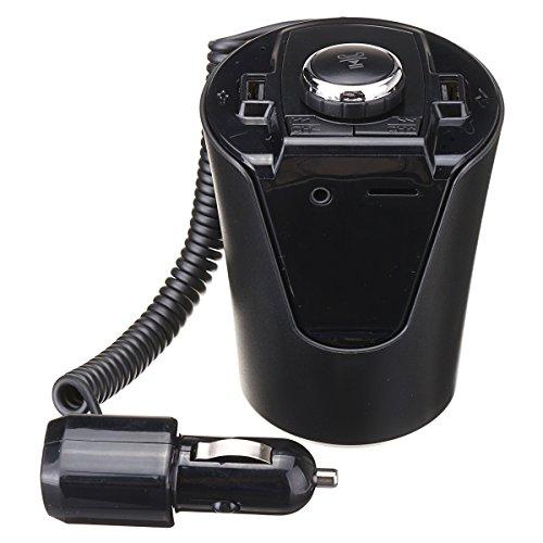 GOZAR Bx6 Bluetooth Cup Led Auto Freisprecheinrichtung Fm Transmitter Kit Dual Usb Car Charger