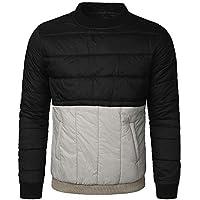 TWBB Mantel,Herren Streifen Winter Warme Daunenjacke Baumwollkleidung Pullover Oberteile Outwear