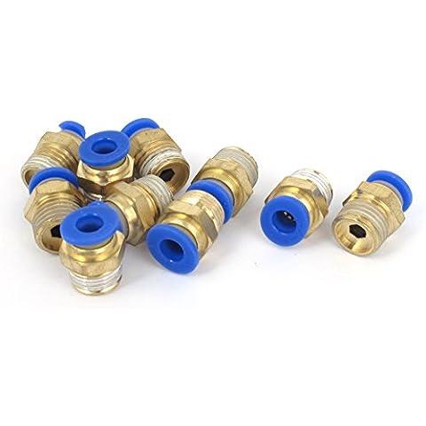 1/4BSP Macho a 6mm Aire Neumático De Conexión Rápida Conectores PL6-02 10 piezas