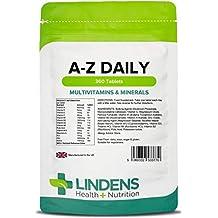 Lindens Multivitaminas A-Z en comprimidos diarios | 360 Paquete | Equilibrio perfecto de vitaminas y minerales