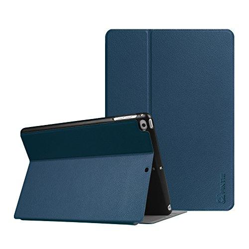 Fintie Coque pour iPad 9.7 Pouces 2018 2017 / iPad Air 2 / iPad Air - Ultra-Mince léger Multi-Angle Viewing Housse Etui, avec Fonction de Support et Sommeil/Reveil Automatique, Blue Marrine
