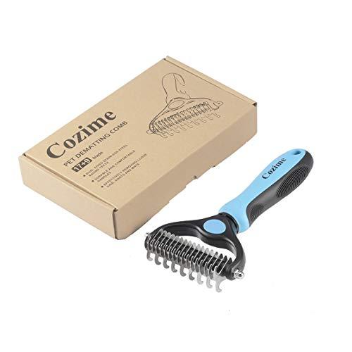 Dooret COZIME Durable Removing Haar Knoten Mat Doppelseitige Edelstahl Runde Zähne Pflege Kamm Werkzeug Pet dematting Kamm
