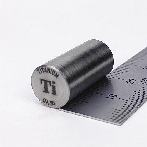 Metallstange aus reinem Titan, 99,95%, 7g, 10mm Durchmesser x 20mm lang