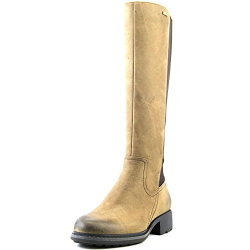 Rockport First St. Waterproof Gore Tall Boot Large Cuir Botte Burnt Cake Waxy