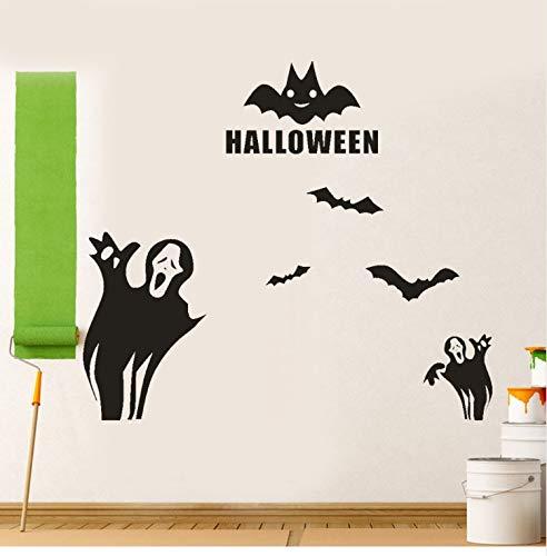 KUANGJING Persönlichkeit wandaufkleber 8 Stücke Happy Halloween bat wandaufkleber Dekoration 2017 Neue DIY wandaufkleber dekorative abziehbilder 70X60 cm