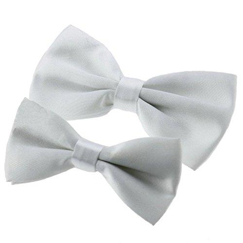 UKERDO Famille Dotées Papillon Blanc Noeud Papillon pour Père & Son Parti Accessories(A)