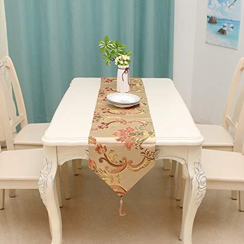 Qinqin666 Tischläufer Sinn für Mode der luxuriösen minimalistischen Stil Tisch Läufer Tischfahne Fahne Gold 32x120cm
