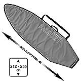 HOWZIT Surfbezug verstellbar von 7'0 bis 8'6, Grau – geeignet für Surfen Funboard, Fish, Hybrid, Mini Malibu DE 7'0 bis 8'6
