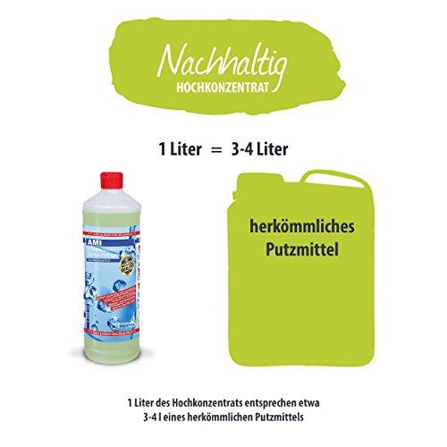 AMI Antikalk-Badreiniger Konzentrat 1.000ml, Kalkreiniger & Sanitärreiniger, entfernt Kalk & Schmutz in Bad & Küche, hautfreundlich & ökologisch abbaubar - 5