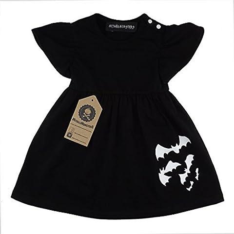 Metallimonsters Black Bats baby dress (0-3