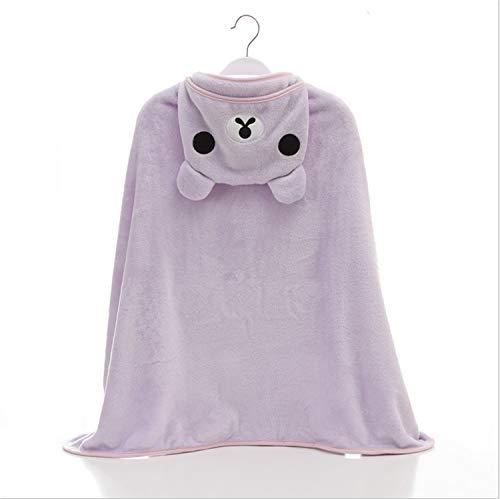 0f0f569a1840 UNIQUE-F Asciugamano Coperta Bambino Swaddle Wrap Neonato Accappatoio per Bambini  Asciugamano in Pile con