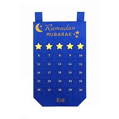 Zay Filzkalender Gold Star Aufkleber Wand hängen DIY Kalender für Heimtextilien hängen nummeriert Countdown-Zeitplan - Star Wand Hängen