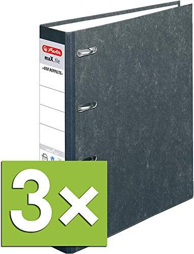 3 Bankordner Farbe schwarz je 1x grün 140x250mm gelb für Kontoauszüge