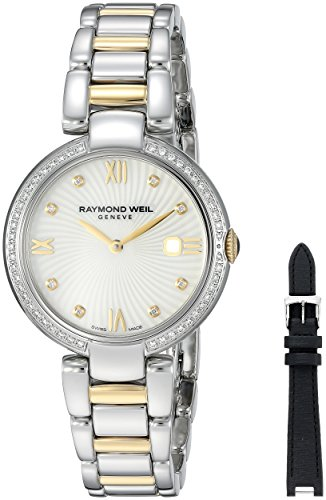RAYMOND WEIL WOMEN'S SHINE DIAMOND 32MM STEEL CASE QUARTZ WATCH 1600-SPS-00995
