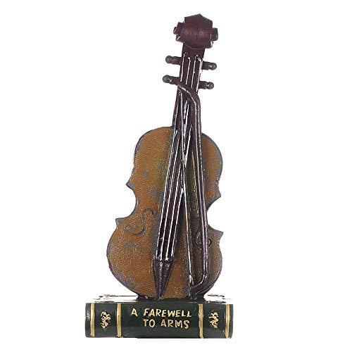 QNMM Retro Kreative Violine Dekoration Figuren Europäischen Retro Prozess Dekoration Violine Harz Modell Ornament Hause Schreibtisch Kreative Geschenk,Green