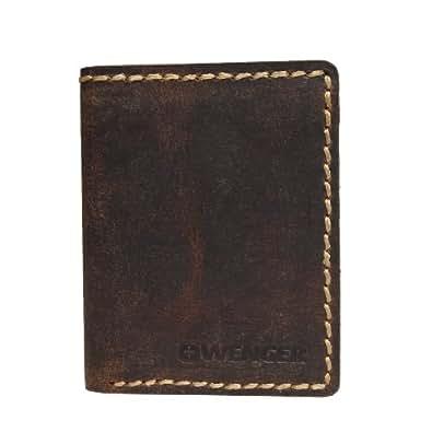 Wenger arizona étui marron foncé w 23–19 étui portefeuille pour homme en cuir pour femme et homme