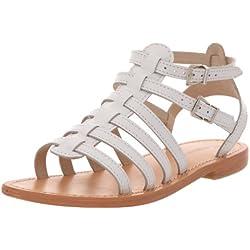 Les Tropéziennes Hic - Sandalias de cuero para mujer, color blanco (blanc), talla 38
