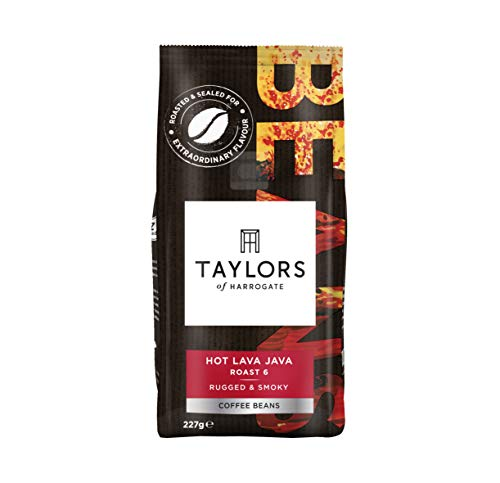 Taylors of Harrogate Hot Lava Java Coffee Beans 227g (Pack of 6) 41f9S578gsL