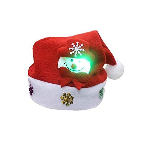 Kostüm Für Patriot Erwachsene - SuperSU Weihnachten ➱➲ 3 Stücke Glanz Weihnachtsmütze Nikolausmütze Weihnachtsdeko Xmas Party Deko für Kinder Erwachsene Weihnachtsmann Kostüm (Schneemann Weihnachtsmann Elch)
