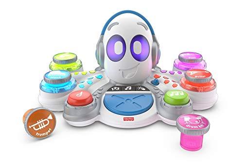 Fisher-Price FKC37 Think and Learn Rocktopus, Aktivitäts-Lernspielzeug, Kinderroboter, Lernspielzeug für 3 Jahre, mit Musik und Lichtern (Fisher Price Spielzeug-instrumente)