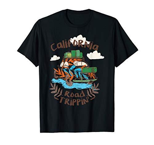 Kalifornien Road Trip Retro Hippie Käfer Geburtstag Geschenk T-Shirt