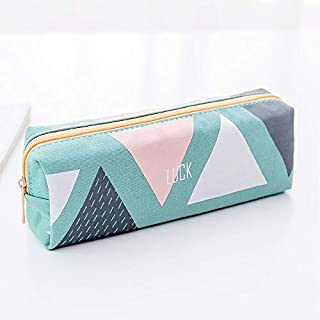Jaminy Pencil Bags Pencil Box Multi-Functional Felt Bag Zipper Bag for Pens, Pencils, Highlighters-Gel Ink Pens, Markers and Other School Supplies Green