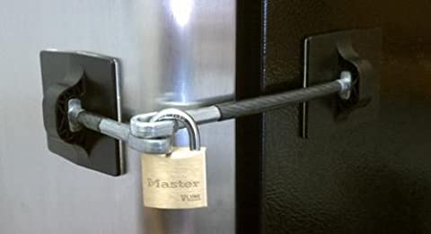 Refrigerator Door Lock With Padlock - Black