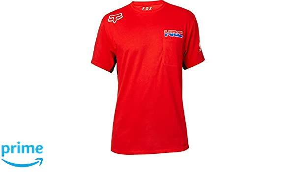 af2d479776b9 Fox Racing 22571-003-S HRC Short Sleeve Airline T-Shirt S Red  Amazon.co.uk   Sports   Outdoors
