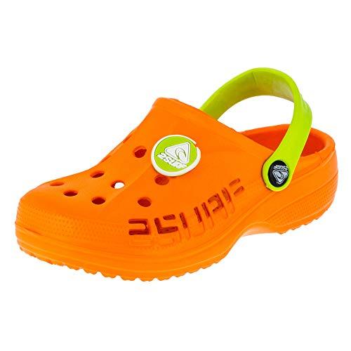 Kinder Clogs Badeschuhe Sandalen für Jungen und Mädchen in vielen Farben M211orgn Orange Grün 31 - Orange Kinder Sandalen
