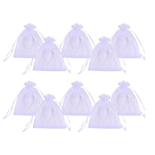 pandahall-elite-200pcs-sacchetti-organza-sacchetti-regalo-sacchetti-portaconfetti-colore-bianco-10cm
