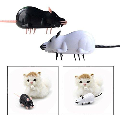 OFKPO 2PCS Telecomando Gatto Giocattolo Mouse Chase Simulazione