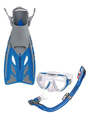 Aquazon Schnorchelset BARRACUDA, Schnorchelbrille, Schnorchel, Flossen für Kinder und Jugendliche