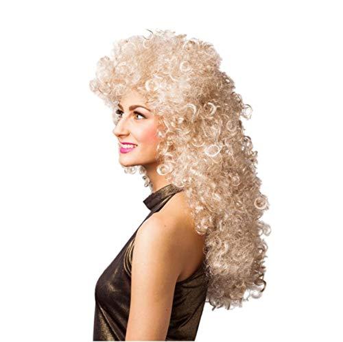 Unbekannt Lockenperücke 80er Jahre blond Langhaar Damen Perücke Fasching ()