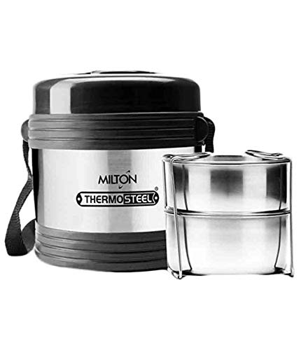 Milton Thermo Steel Legend 2,Office Tiffin 2 Containers Lunch Box...