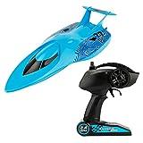 MagiDeal Ferngesteuertes RC Speedboot, 2.4 Ghz High-Speed Rennboot für Anfänger und Kinder - Blau