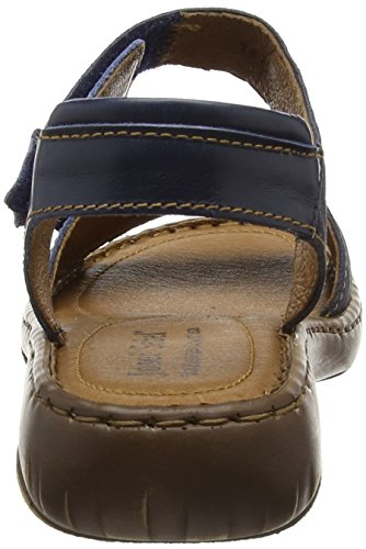 Josef Seibel - Debra 19, Scarpe col tacco con cinturino a T Donna Blu (Blau (denim/kombi))