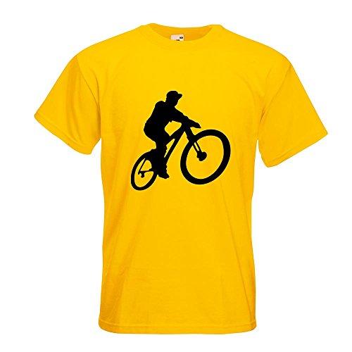 KIWISTAR - Mountainbiker MTB Downhill T-Shirt in 15 verschiedenen Farben - Herren Funshirt bedruckt Design Sprüche Spruch Motive Oberteil Baumwolle Print Größe S M L XL XXL Gelb