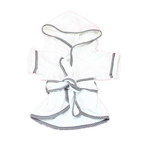 BXFUL Robe Chien, Chat Doux Et Chaud, Chien, Séchage Rapide Pyjama, Convient pour Les Petites, Moyennes Et Grandes Animaux (L)