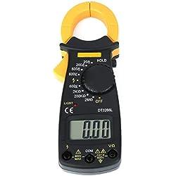 Akozon Pinces Ampèremétriques DT3266L Ecran LCD Numérique Tension Courant Testeur de Résistance AC/DC Détecteur de Tension Portable Multimètre -1999 valeur d'affichage maximale