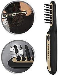 Remington Haarentwirrbürste Tangled2Smooth DT7435, elektrische Tangle Haarbürste, oszillierende Borsten für ein schnelles und einfaches Entwirren, für trockenes und feuchtes Haar geeignet, schwarz