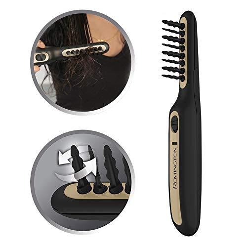 Remington Haarentwirrbürste Tangled2Smooth DT7435, elektrische Tangle Haarbürste, oszillierende Borsten für ein schnelles und einfaches Entwirren, für trockenes und feuchtes Haar geeignet, schwarz -