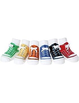Baby Jungen Socken die wie Schuhe aussehen-6 Paar-Weicher Baumwolle-Neuborenes Geschenk