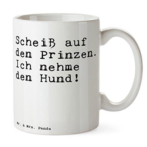 Mr. & Mrs. Panda Tasse mit Spruch 'Scheiß auf den Prinzen. Ich nehme den Hund! ' - 100% handmade...