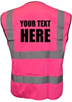 PERSONALISED PINK HIGH VISIBILITY WAISTCOAT