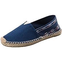 5a06045cb4afb Vogstyle Espadrilles Unisex en Toile Cousue Chaussure de Marche Semelle  Caoutchouc Mode Corde Tressée