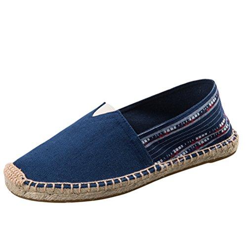 Vogstyle Unisex-Erwachsene Espadrilles Slipper Flats Ballerinas Slip-On Segeltuchschuhe Art 5 Blau EU42/CH43