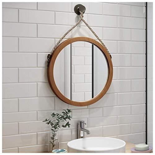 Espejo redondo for colgar en la pared for el porche del baño, espejo de tocador montado en la pared...